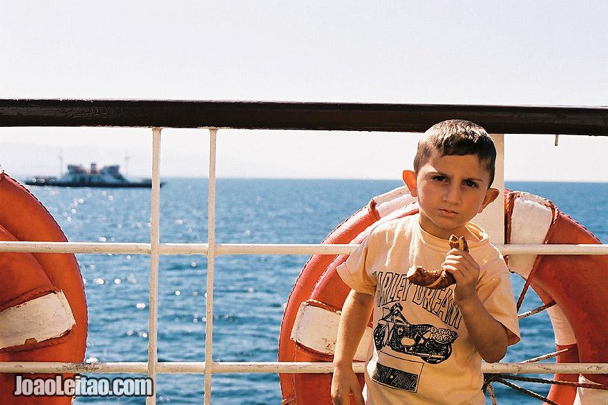 Photo of boy in the Bosphorus strait, Turkey -  Europe