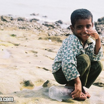 Photo of Boy on the beach in Qeshm Island, Persian Gulf, Iran - Middle East