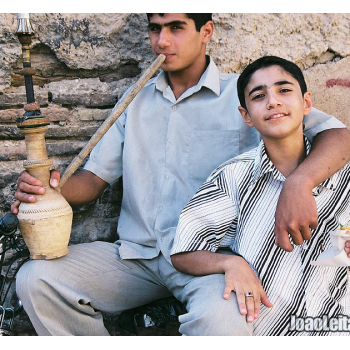 Boys Smoking Hookah in Shiraz, Iran - Middle East