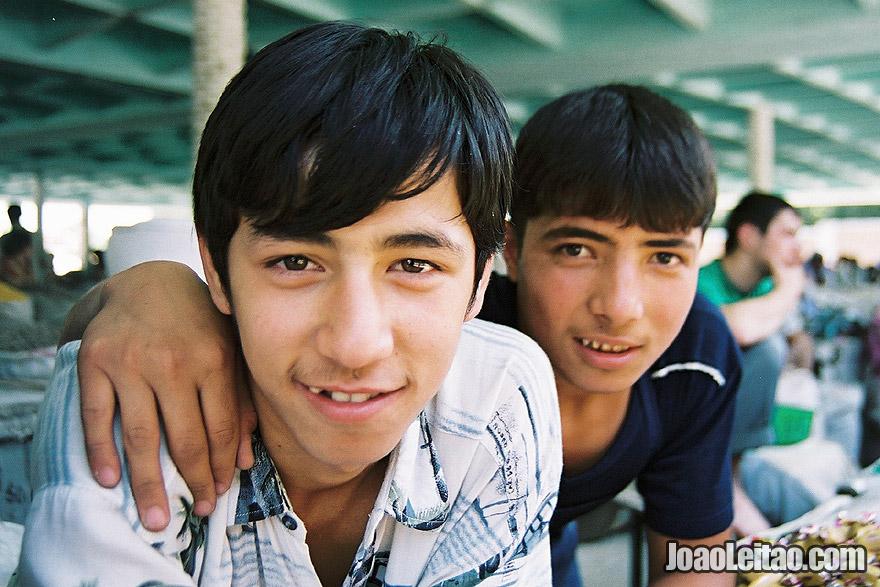 Boys in Bukhara, Uzbekistan - Central Asia