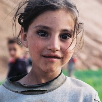 Young girl in the Atlas Mountains, Morocco - North Africa