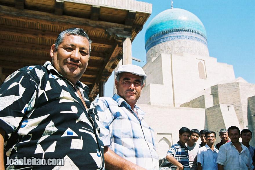 Men in Bukhara furniture market, Uzbekistan - Central Asia