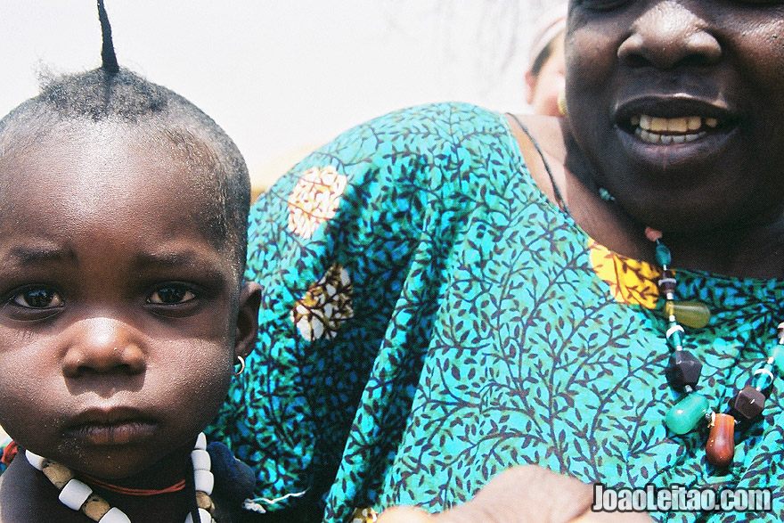 Photo of Mother and child in village near Mali border, Senegal