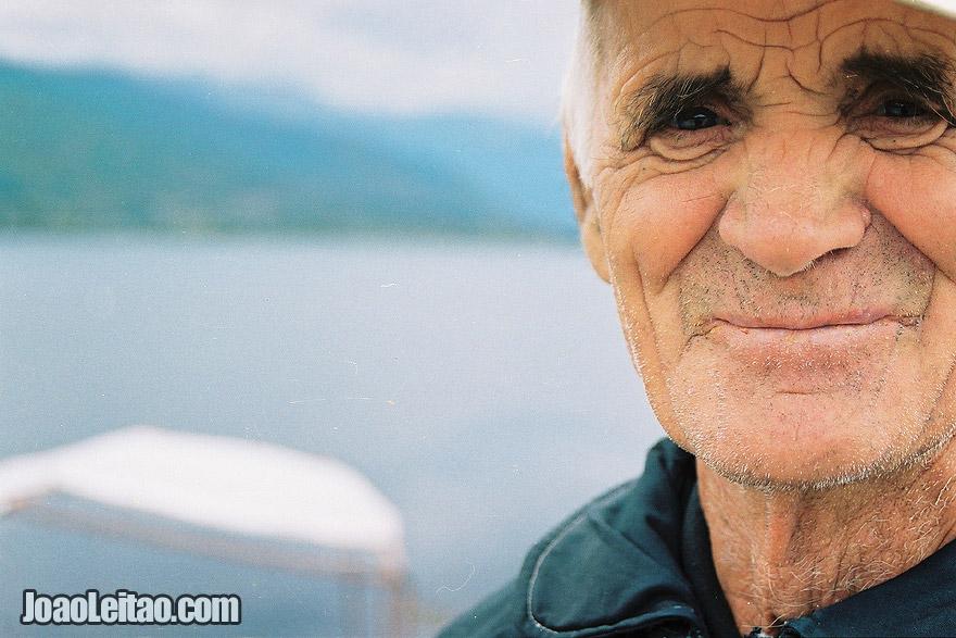 Photo of old sailor man in Ohrid Lake, Macedonia - Eastern Europe