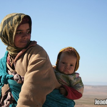 Woman and baby in the Atlas Mountains, Morocco