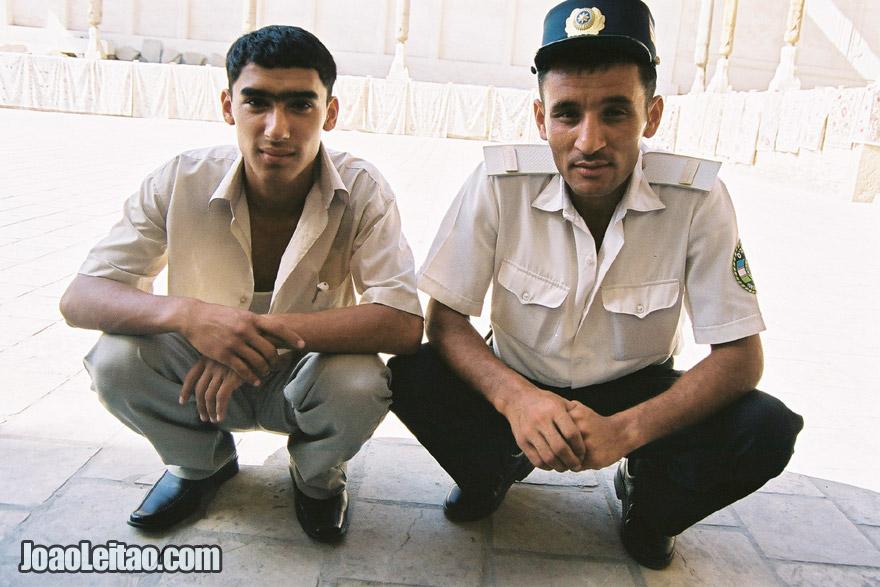 Young men in Bukhara, Uzbekistan - Central Asia