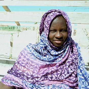 Girl in el Nouamghar fishermen village, Mauritania