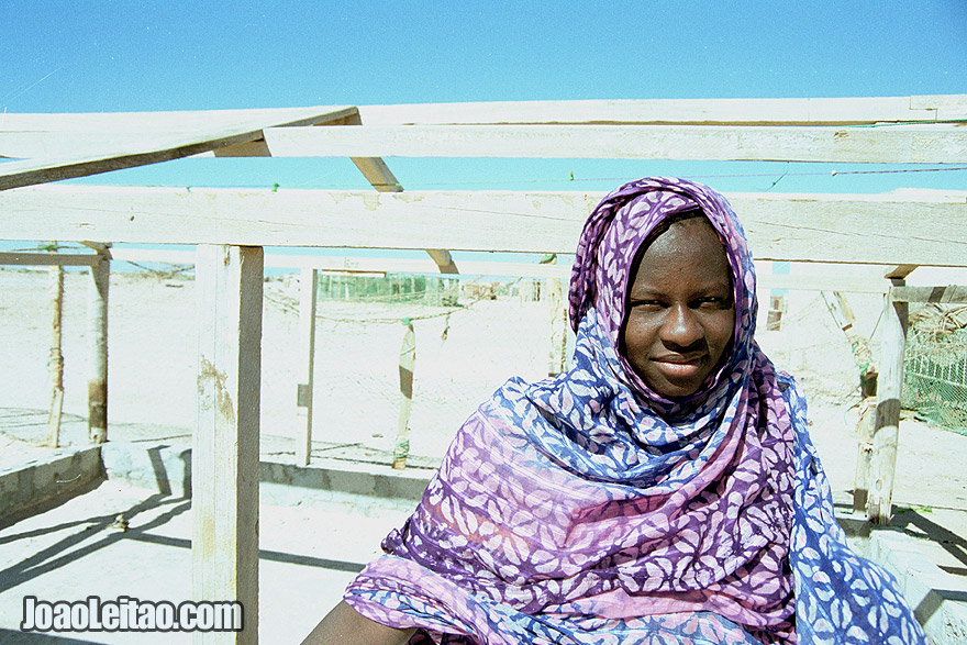 Girl in el Nouamghar fishermen village, Mauritania