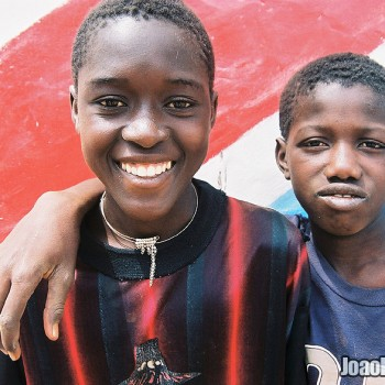 Photo of Boys smiling in Janjanbureh Island, The Gambia - West Africa