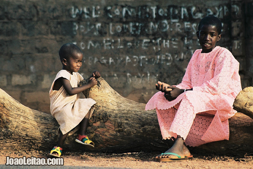 Photo of children in Basse Santa-Su. This is near the west border region of Casamance and The Gambia West Africa