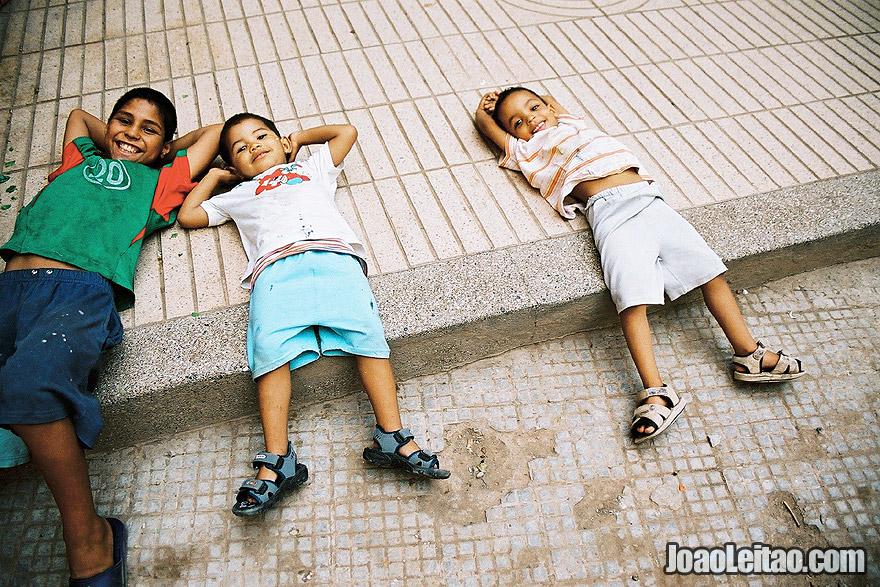 Children in Marrakesh Medina, Morocco - North Africa