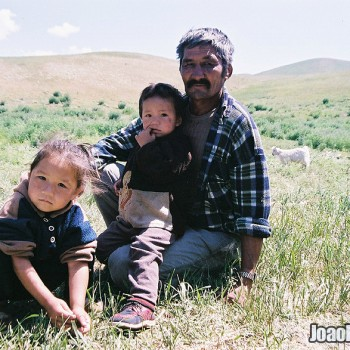 Kazakh nomads family in Ile-Alatau National Park, Kazakhstan – Central Asia