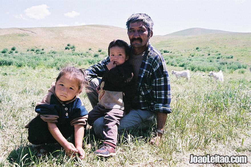 Photo of Kazakh nomads family in Ile-Alatau National Park, Kazakhstan – Central Asia