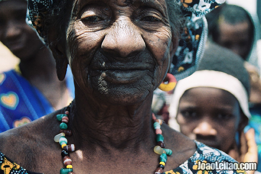 Old woman in small village near the border of Mali, Senegal