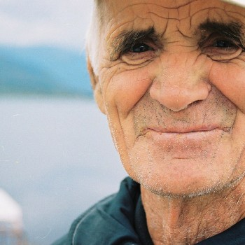 Photo of old sailor man in Ohrid Lake, Macedonia - Eastern Europe
