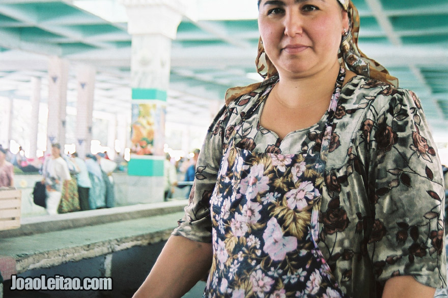 Uzbek woman in Bukhara, Uzbekistan - Central Asia